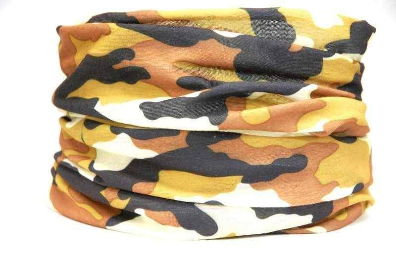 Multifunkční šátek Brown-Camouflage - hnědý