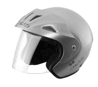 NERVE NH1008 Open Silver moto přilba stříbrná otevřená helma na motorku