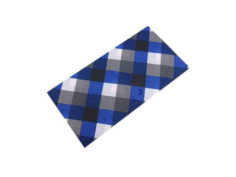 TWOEIGHTFIVE multifunkční šátek na krk Carouser - kostka modrý