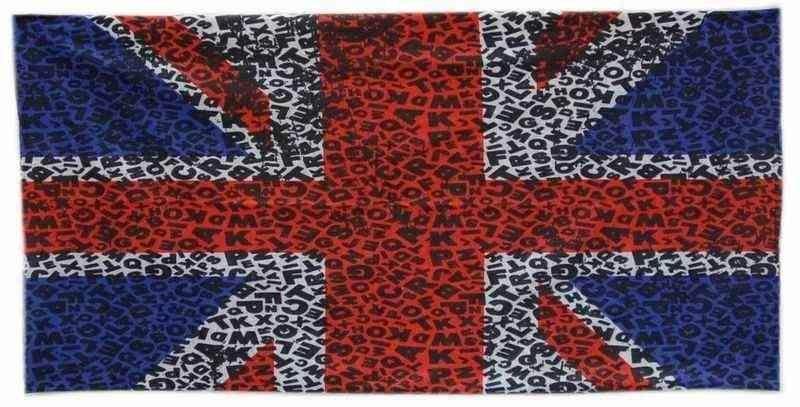 TWOEIGHTFIVE multifunkční šátek na krk Union Jack ABC, britská vlajka
