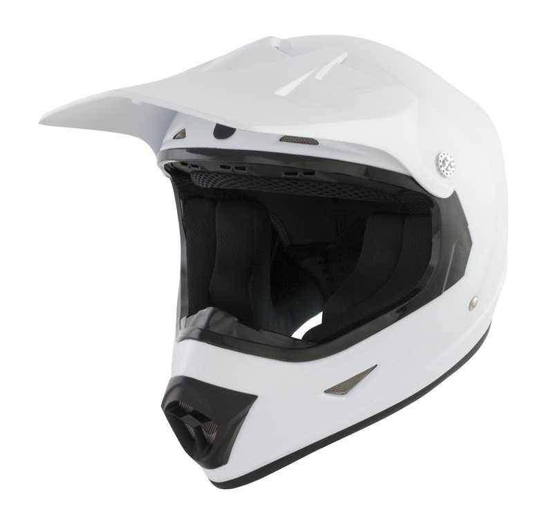 GSB XP-7 dětská bílá krosová helma, přilba na motorku