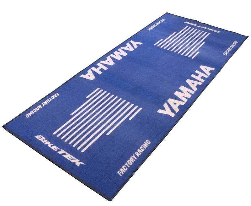 Koberec Yamaha modrý pro motorku