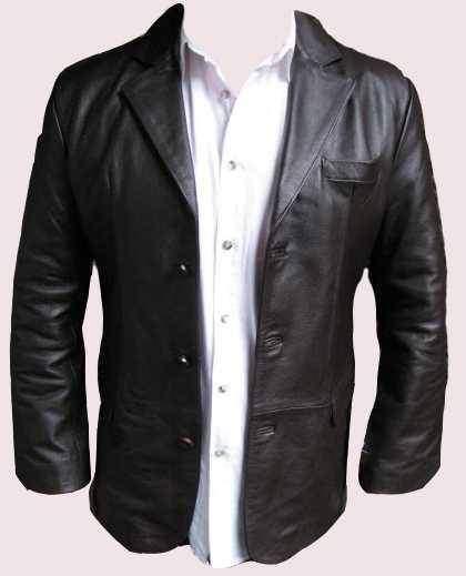 Blazer kožené sako pánské b18892dff1d