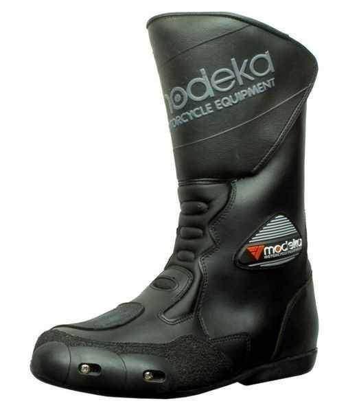 afbb2943229 Výprodáno - Modeka Zolder černé kožené nepromokavé boty na motorku ...