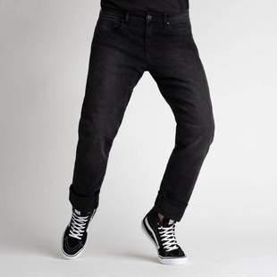 BROGER JEANS CALIFORNIA WASHED BLACK kalhoty na motorku