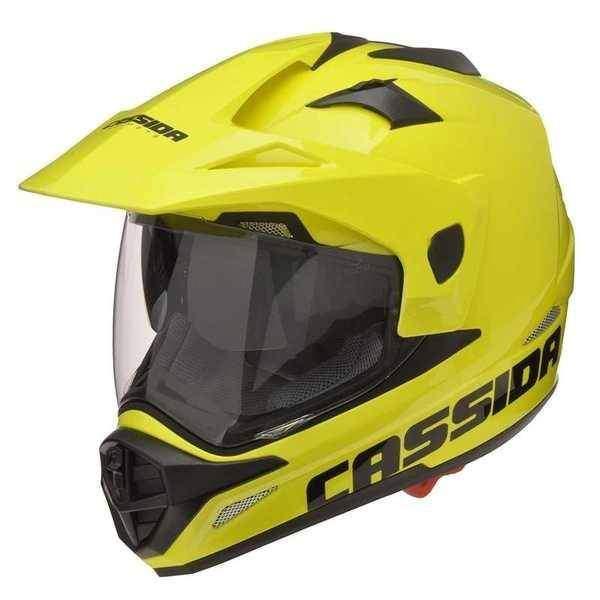 Cassida Tour enduro žlutá fluo helma na motorku