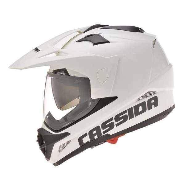 Cassida Tour enduro bílá helma na motorku