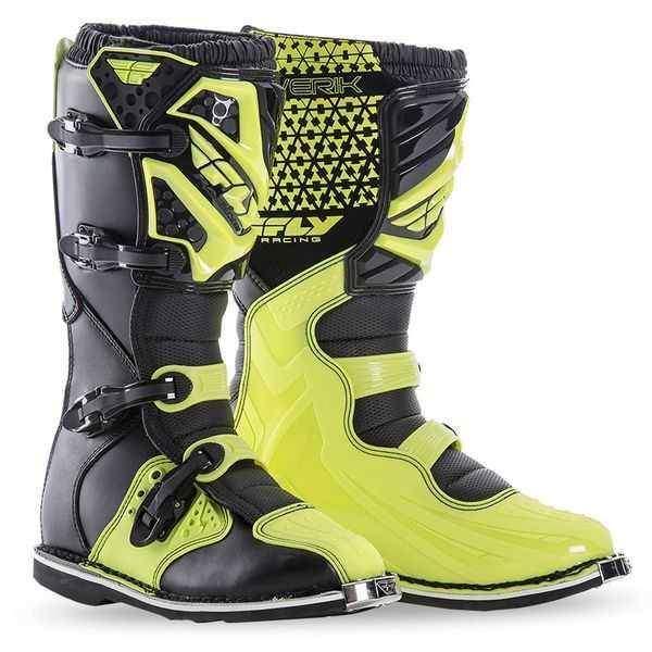 Fly Racing Maverik černé žluté fluo krosové boty na motorku