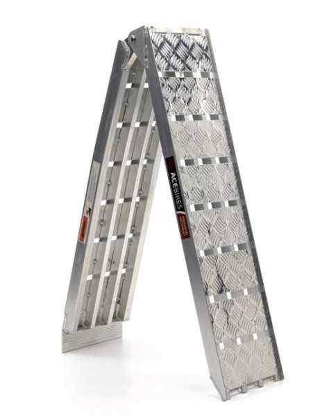 Nájezdová rampa 225x28 cm, nosnost 680 kg, skládací