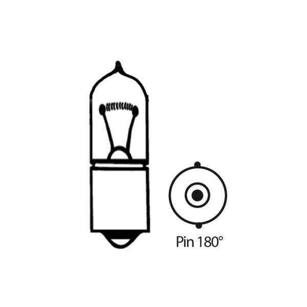 Halogenová žárovka čirá, 12V23W, BA9S, Pin 180°, Ø=9x27mm
