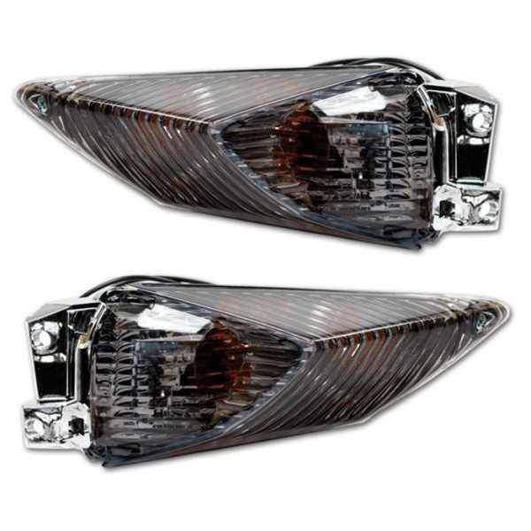 Blinkry na motorku Suzuki, tónované sklo, zadní