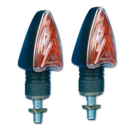 Moto blinkry Dart-Flash krátké žárovkové 12V/21W - černé