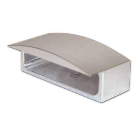 stříbrné hliníkové pouzdro na LED osvětlení SPZ