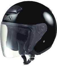 IXS HX 118 černá otevřená jet přilba na motorku a skůtr