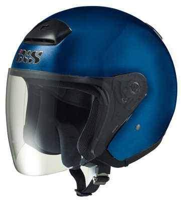 IXS HX 118 modrá otevřená jet přilba na motorku a skůtr