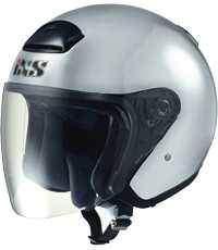 IXS HX 118 stříbrná otevřená jet přilba na motorku a skůtr