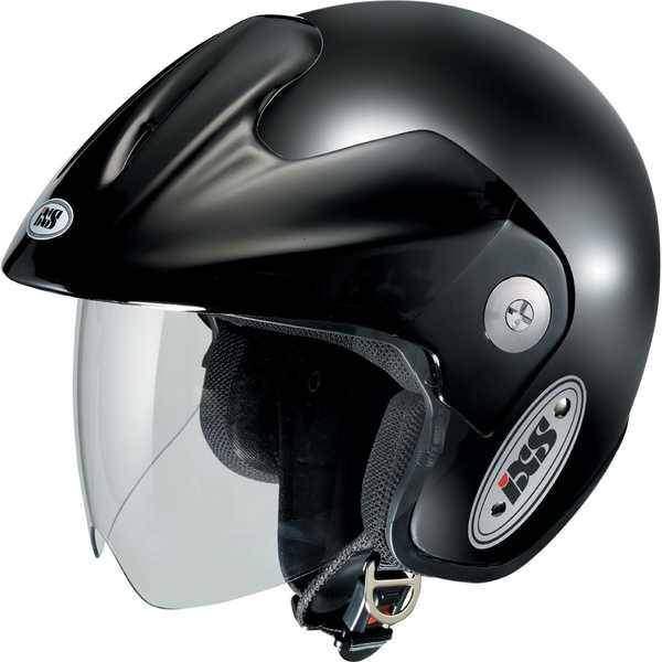 IXS HX 114 černá lesklá otevřená jet helma, přilba na motorku a skůtr