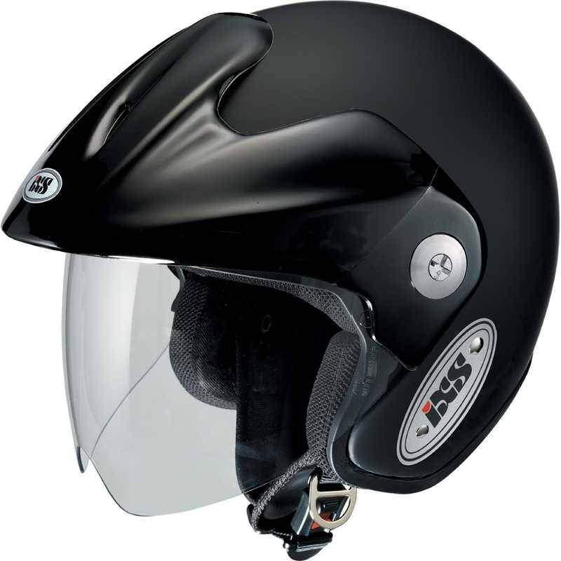 IXS HX 114 černá matná otevřená jet helma, přilba na motorku a skůtr