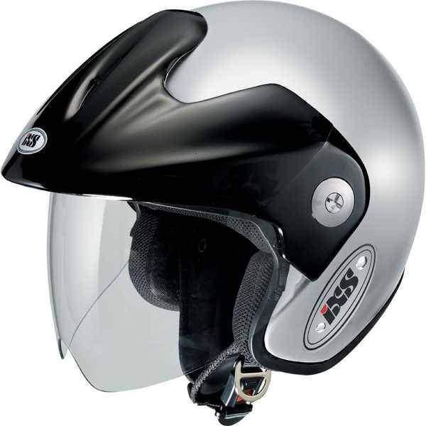 IXS HX 114 stříbrná otevřená jet helma, přilba na motorku a skůtr