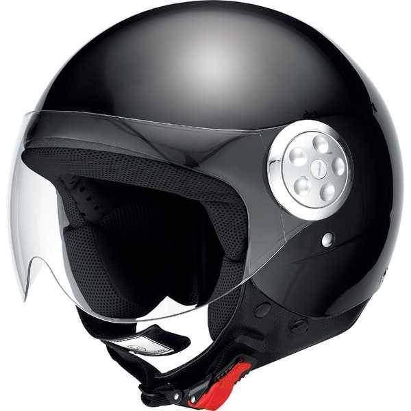 IXS HX 133 černá lesklá otevřená jet přilba, helma na motorku