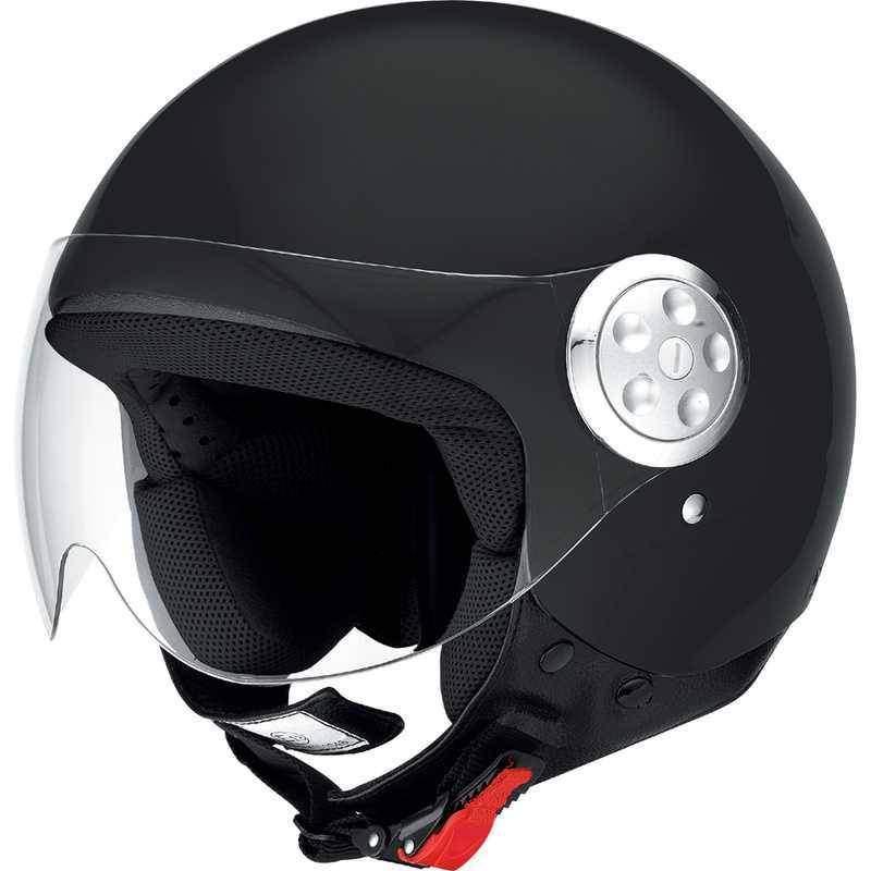 IXS HX 133 černá matná otevřená jet přilba, helma na motorku