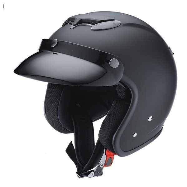 IXS HX 87 CAFE RIDER černá matná otevřená jet helma se sluneční clonou, přilba na motorku a skůtr