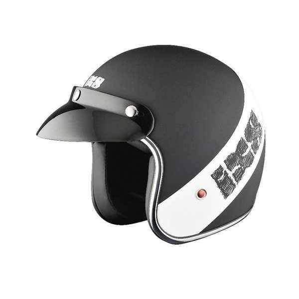 IXS HX 89 RETRO černobílá matná otevřená jet přilba, helma na motorku