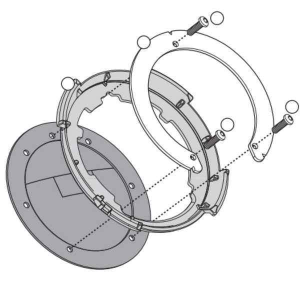 Kappa BF03K tanklock redukce pro montáž na víčko nádrže motorky