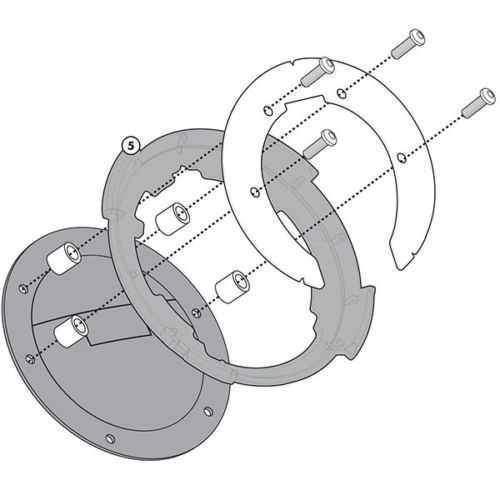 Kappa BF10K tanklock redukce pro montáž na víčko nádrže motorky