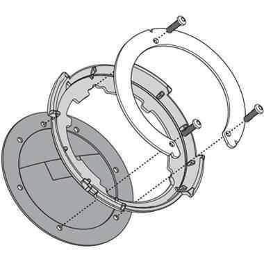 Kappa BF20K tanklock redukce pro montáž na víčko nádrže motorky