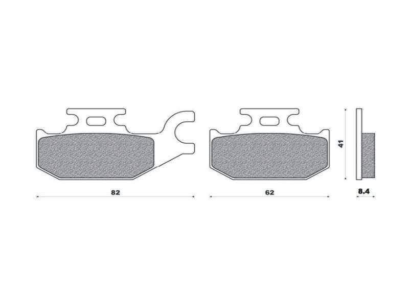 Brenta FT4109 (levý přední kotouč) přední sintrované brzdové destičky na motorku