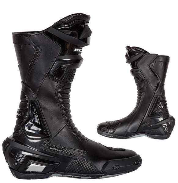 Kore Sport, černé sportovní kožené boty na motorku