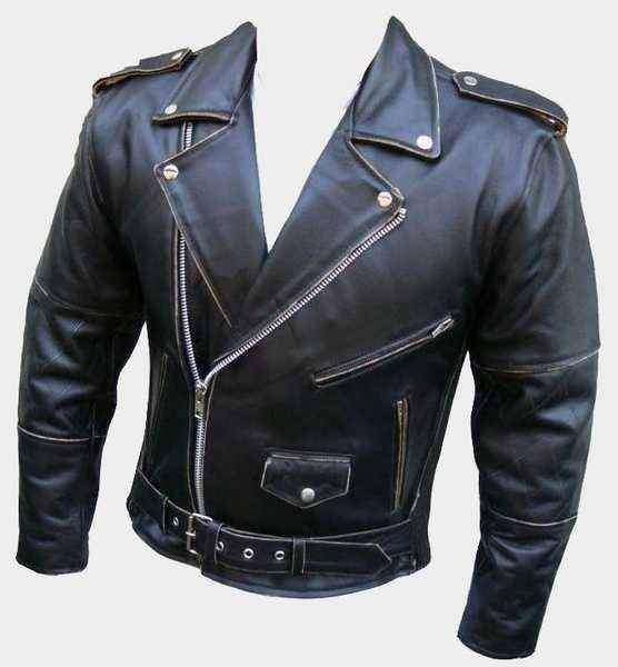 Kožený křivák Antik - kožená bunda na chopper na motorku