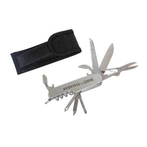 Univerzální malá sada kapesní nářadí SURVIVAL (nůž, šroubováky, pilka, vývrtka) 11 v 1