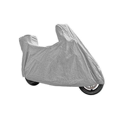 Plachta na motorku VENTURA PLUS, univerzální pro zakrytí motorky a skůtru s velký plexi a kufrem