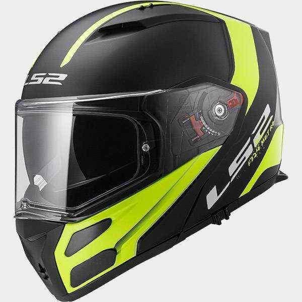 LS2 FF324 METRO RAPID černá žlutá matná výklopná helma na motorku