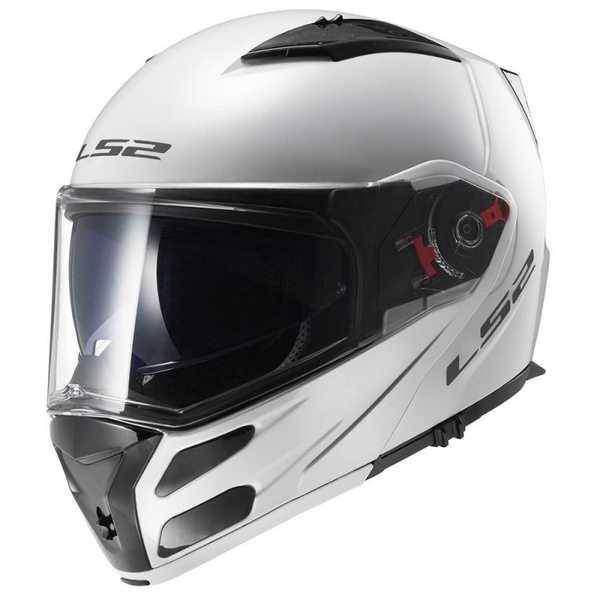 LS2 FF324 METRO bílá lesklá výklopná helma na motorku