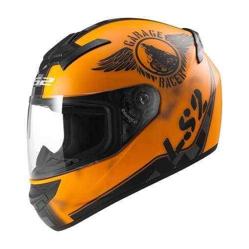 LS2 FF352 ROOKIE FAN matt orange, integrální uzavřená helma na motorku