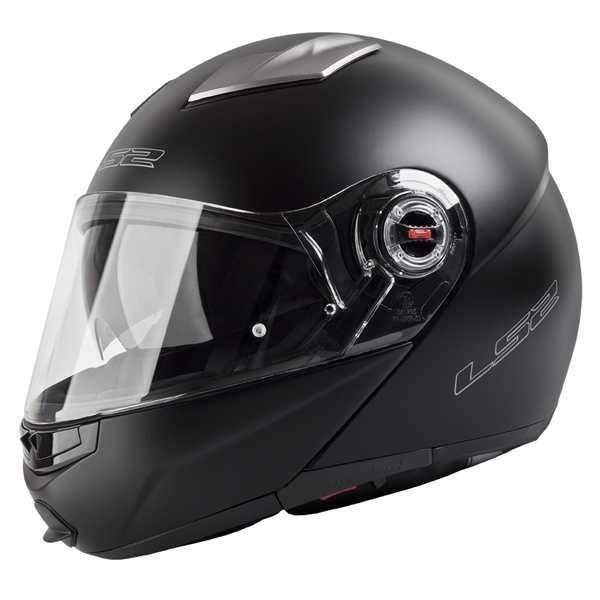 4bfed80f940 LS2 FF370 EASY matt black - černá matná vyklápěcí helma na motorku ...