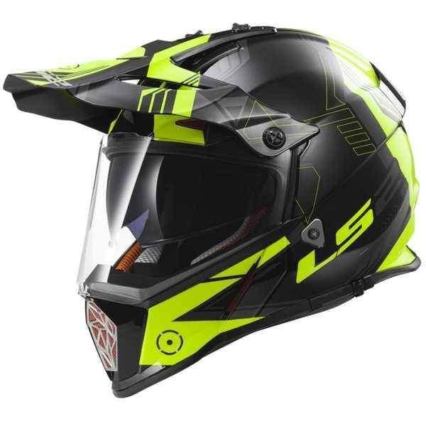 LS2 MX436 Pioneer Trigger černožlutá enduro helma na motorku