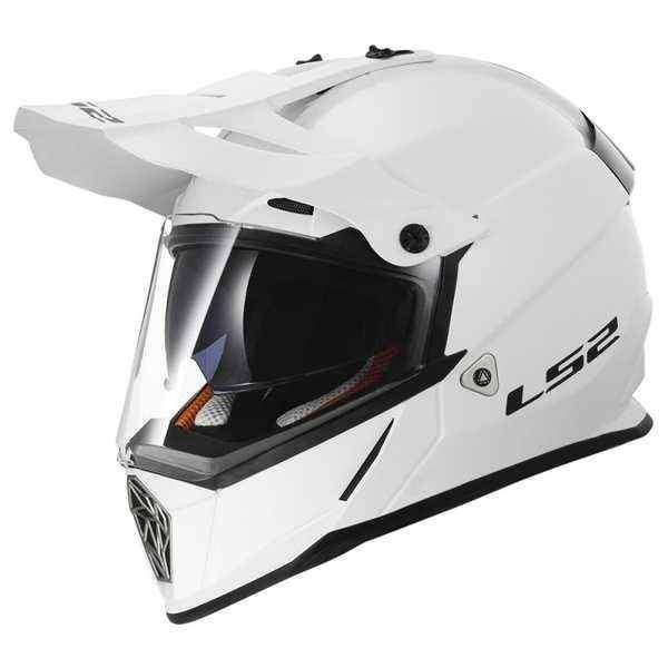 LS2 MX436 Pioneer Trigger bílá enduro helma na motorku