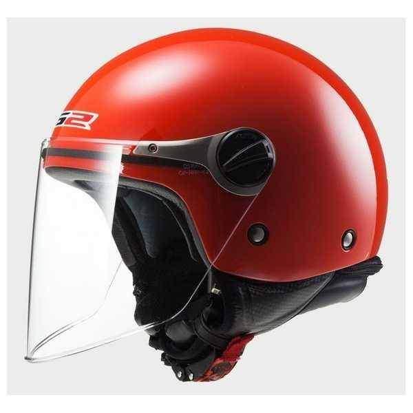 LS2 OF575 Wuby červená dětská otevřená helma na motorku