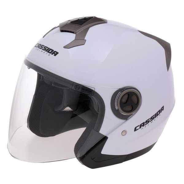 Cassida Magnum JET otevřená helma na motorku, bílá lesklá