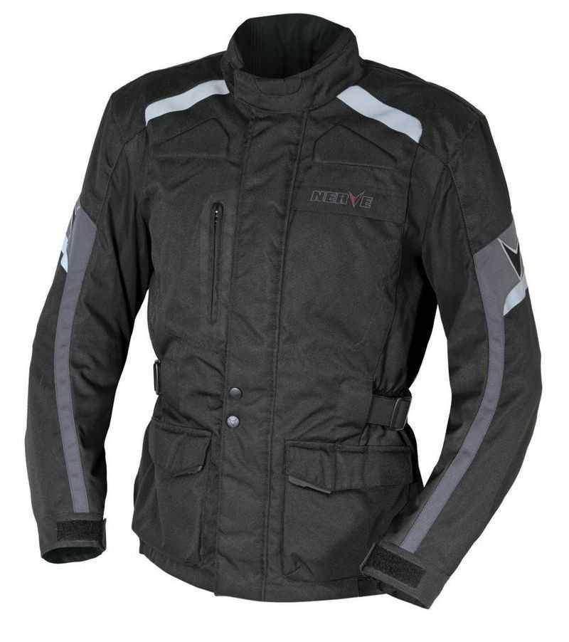 NERVE Ext black černá cestovní moto bunda na motorku