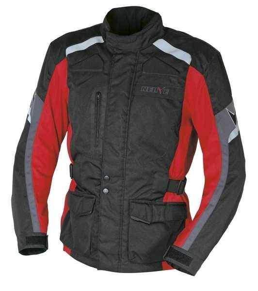 NERVE Ext Red červená cestovní moto bunda na motorku