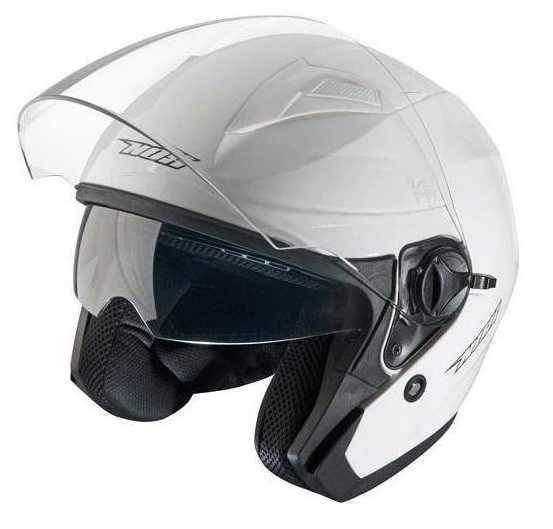 NOX N124 White bílá otevřená jet přilba na motorku