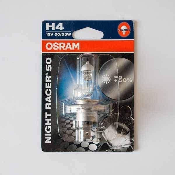 OSRAM žárovka H4 60/55W 12V P43T NIGHT RACER +50% svítivost