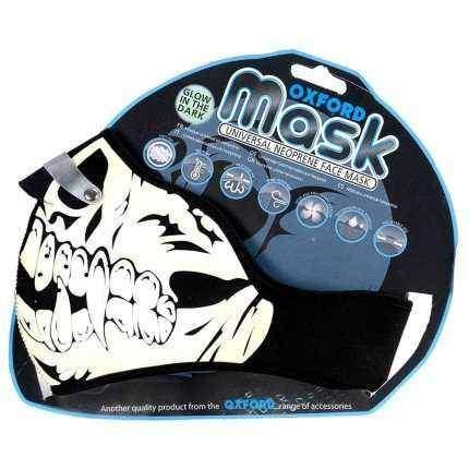 Oxford Glow Skull neoprenová maska na obličej