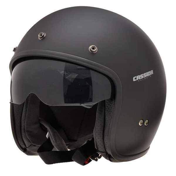 Cassida Oxygen JET otevřená helma na motorku, černá matná