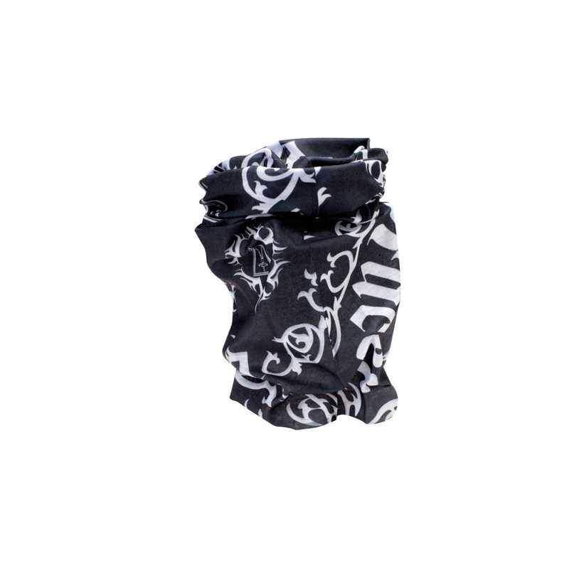 Racer černobílý šátek na motorku